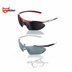 Gafas Catlike Plume Blancas y Rojas