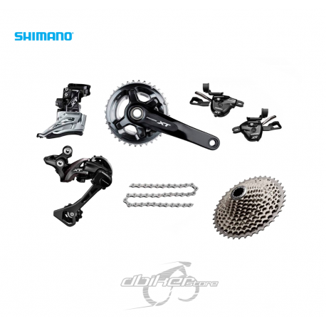 Grupo Shimano XT M8000 2x11v  Monoplato