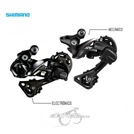 Cambio Shimano XT Di2 y Mecánico